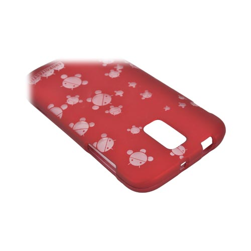 T-Mobile Samsung Galaxy S2 Androitastic Rubberized Hard Case - Red Bubble Bot Invasion