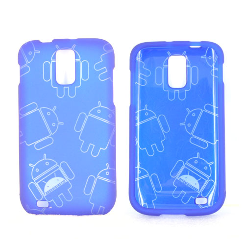 T-Mobile Samsung Galaxy S2 Rubberized Androitastic Hard Case - Blue