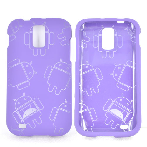 T-Mobile Samsung Galaxy S2 Rubberized Androitastic Hard Case - Purple