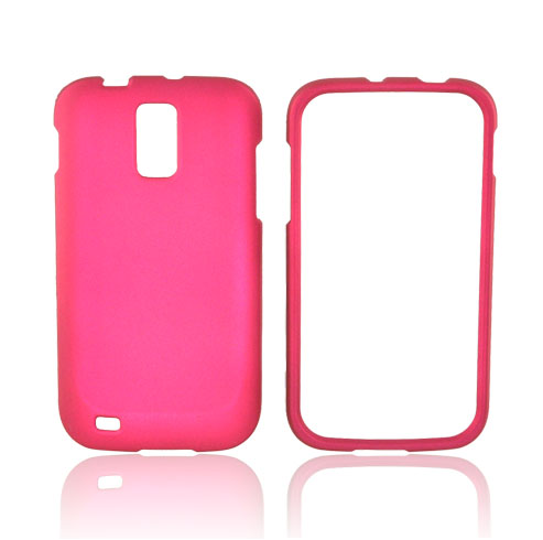 T-Mobile Samsung Galaxy S2 Rubberized Hard Case - Rose Pink