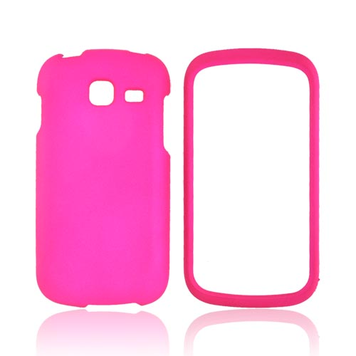 Samsung Transfix Rubberized Hard Case - Hot Pink