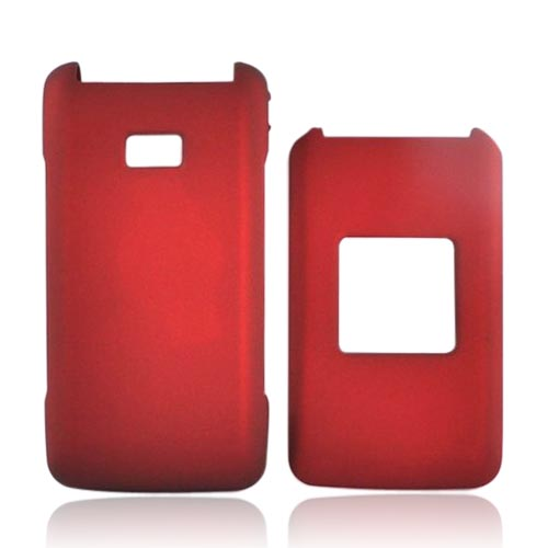 Samsung Haven U320 Rubberized Hard Case - Red