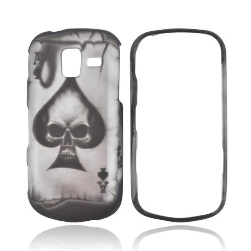 Samsung Intensity III Rubberized Hard Case - Ace Skull on Black