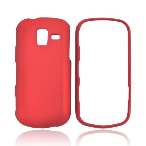 Samsung Intensity III Rubberized Hard Case - Red
