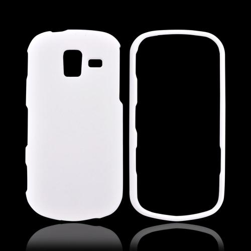 Samsung Intensity III Rubberized Hard Case - White