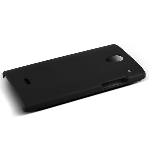 Sharp Aquos Crystal Protective Rubberized Hard Case - Anti-Slip Matte Rubber Material [Slim and Perfect Fitting Sharp Aquos Crystal Case] [Black]