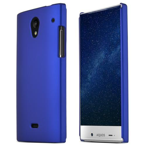 Sharp Aquos Crystal Hard Case [Blue] Featuring Anti-slip Matte Rubberized Polycarbonate