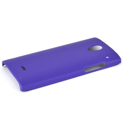 Sharp Aquos Crystal Protective Rubberized Hard Case - Anti-slip Matte Rubber Material [Perfect Fitting Sharp Aquos Crystal (2014) Case] [purple]