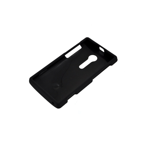 Sony Xperia Ion T28i Rubberized Hard Case - Black