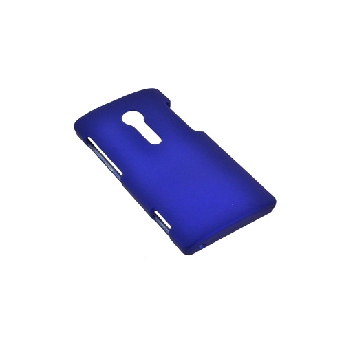 Sony Xperia Ion T28i Rubberized Hard Case - Blue