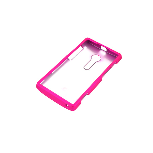 Sony Xperia Ion T28i Rubberized Hard Case - Hot Pink