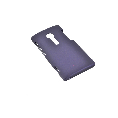 Sony Xperia Ion T28i Rubberized Hard Case - Purple
