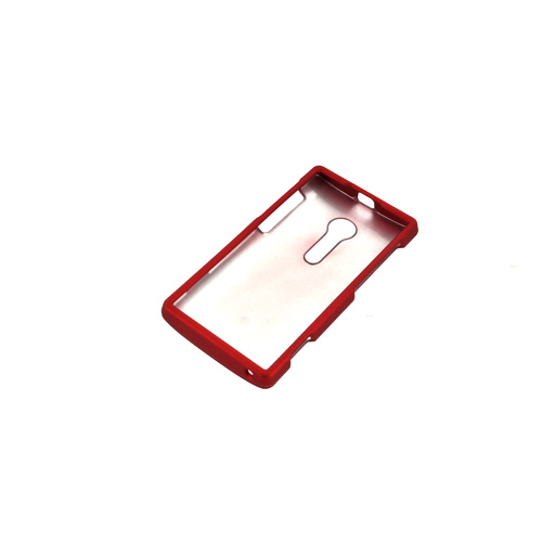 Sony Xperia Ion T28i Rubberized Hard Case - Red