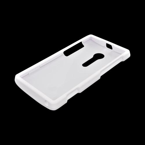Sony Xperia Ion T28i Rubberized Hard Case - White