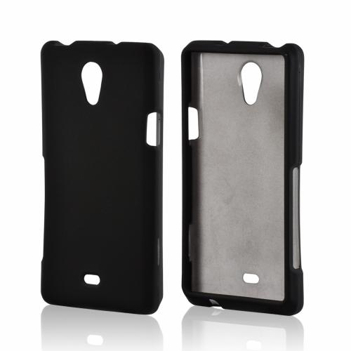 Black Rubberized Hard Case for Sony Xperia TL
