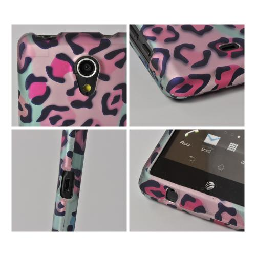 Multi-Colored Leopard Rubberized Hard Case for Sony Xperia TL