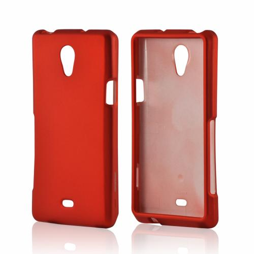Orange Rubberized Hard Case for Sony Xperia TL