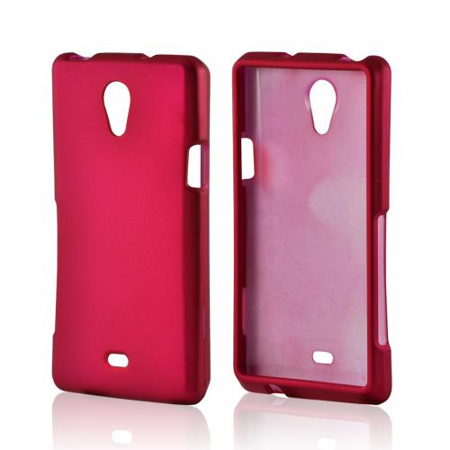 Pink Rubberized Hard Case for Sony Xperia TL