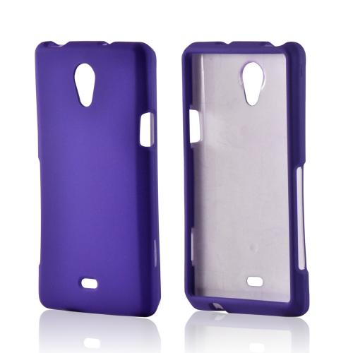 Purple Rubberized Hard Case for Sony Xperia TL