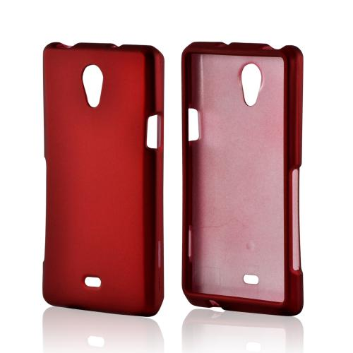 Red Rubberized Hard Case for Sony Xperia TL