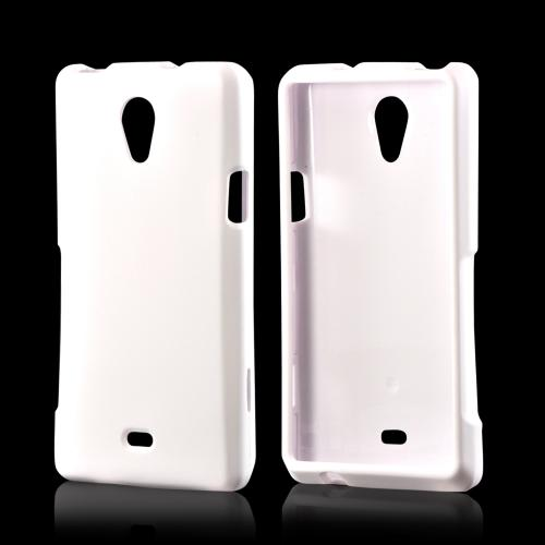 White Rubberized Hard Case for Sony Xperia TL
