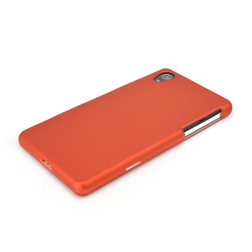 Orange Sony Xperia Z2 Rubberized Hard Case Cover, Great Basic Protection!