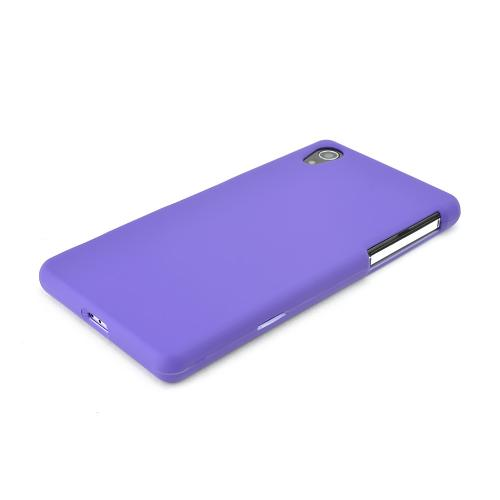 Purple Sony Xperia Z2 Rubberized Hard Case Cover, Great Basic Protection!