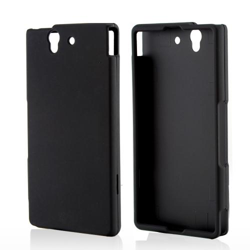 Black Rubberized Hard Case for Sony Xperia Z