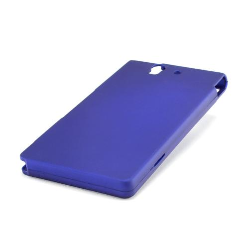 Blue Rubberized Hard Case for Sony Xperia Z