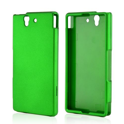 Green Rubberized Hard Case for Sony Xperia Z