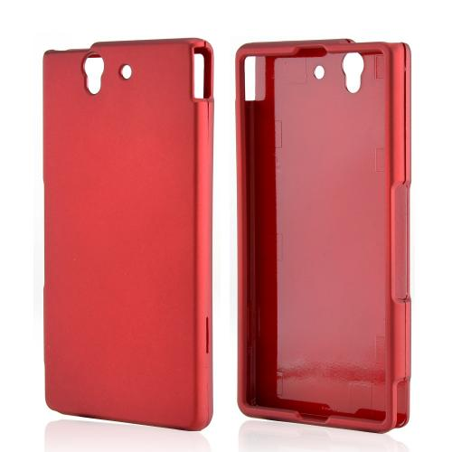 Red Rubberized Hard Case for Sony Xperia Z