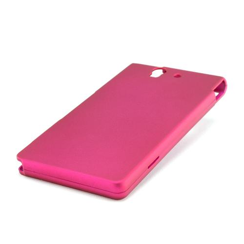Rose Pink Rubberized Hard Case for Sony Xperia Z