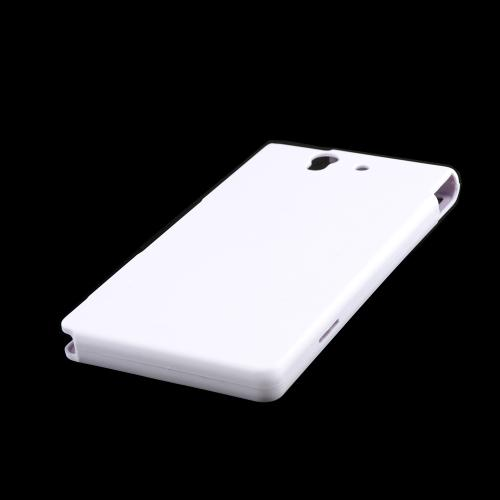 White Rubberized Hard Case for Sony Xperia Z