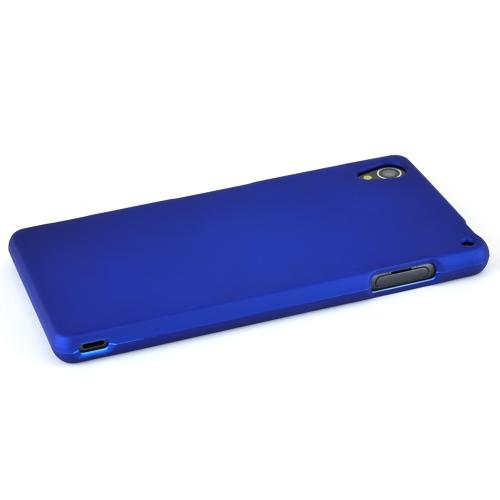 Sony Xperia Z3 Protective Rubberized Hard Case - Anti-Slip Matte Rubber Material [Slim and Perfect Fitting Sony Xperia Z3 (2014) Case] [Blue]