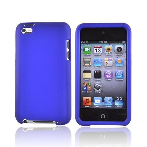 Luxmo Apple iPod Touch 4 Rubberized Hard Case - Blue