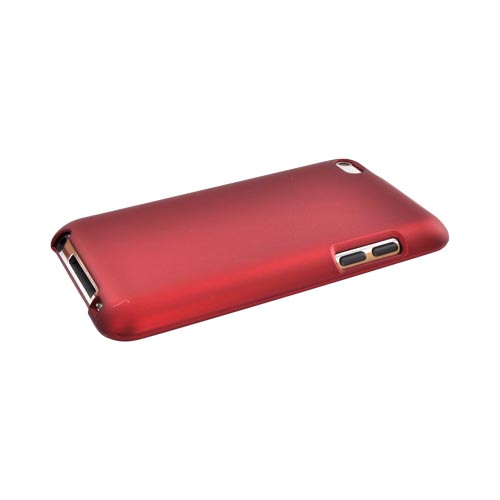 Luxmo Apple iPod Touch 4 Rubberized Hard Case - Red
