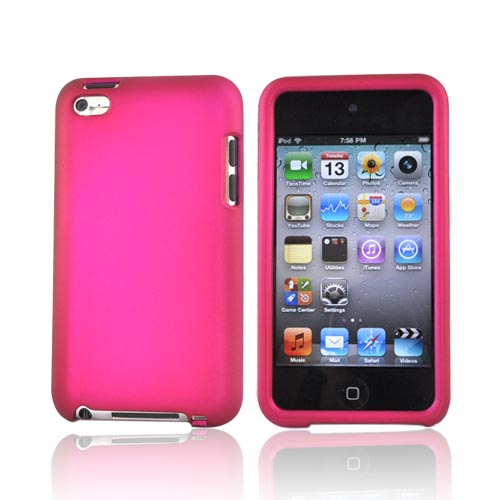 Luxmo Apple iPod Touch 4 Rubberized Hard Case - Rose Pink