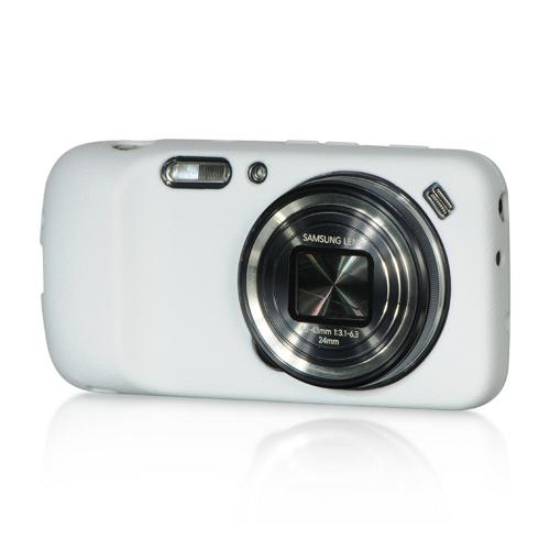 White Crystal Silicone Skin Case for Samsung Galaxy S4 Zoom
