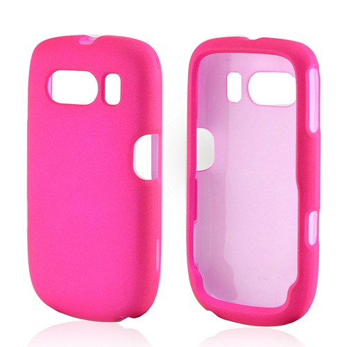 Hot Pink Rubberized Hard Case for ZTE Aspect F555
