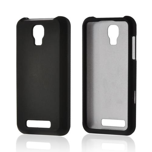Black Rubberized Hard Case for ZTE Engage