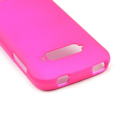Hot Pink Rubberized Hard Case for ZTE Imperial