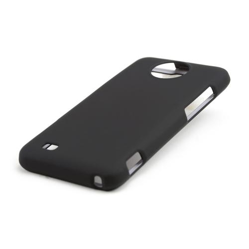 Black Rubberized Hard Case for ZTE Vital