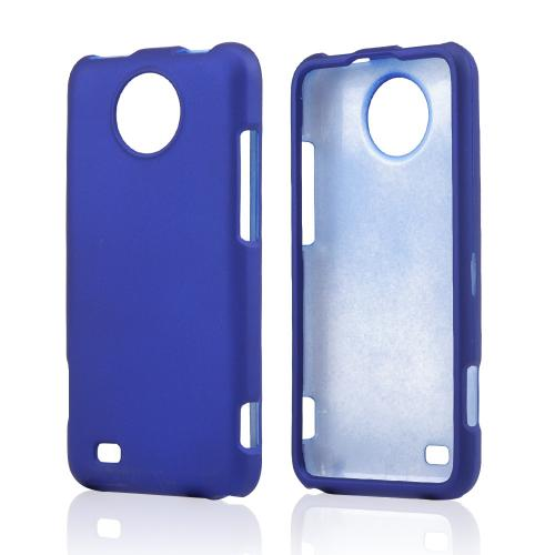Blue Rubberized Hard Case for ZTE Vital