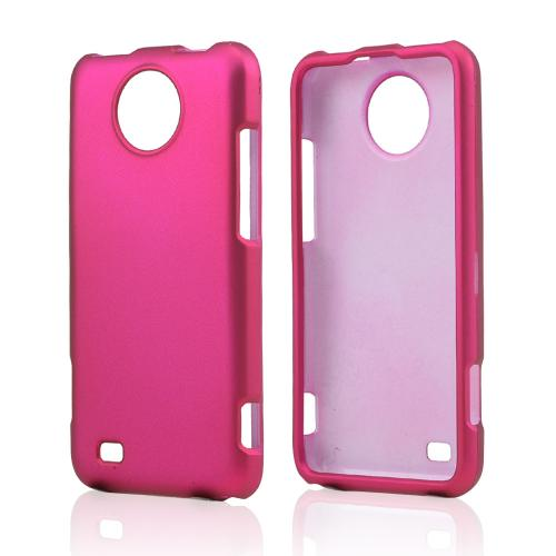 Hot Pink Rubberized Hard Case for ZTE Vital