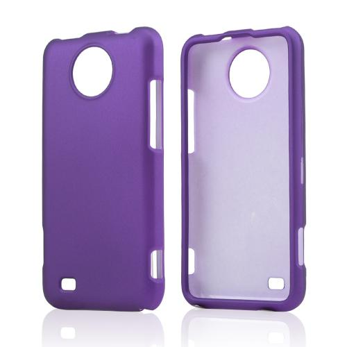 Purple Rubberized Hard Case for ZTE Vital