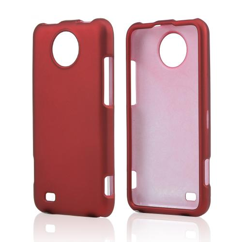 Red Rubberized Hard Case for ZTE Vital