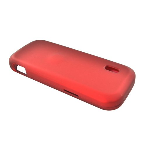 MetroPCS ZTE C76 Rubberized Hard Case - Red