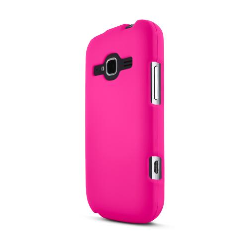 Hot Pink ZTE Concord 2 Matte Rubberized Hard Case Cover; Perfect fit as Best Coolest Design Plastic Cases
