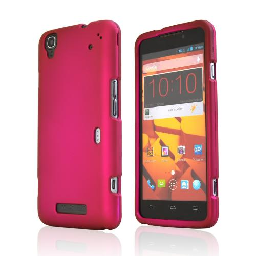 Rose Pink Rubberized Hard Case for ZTE Max