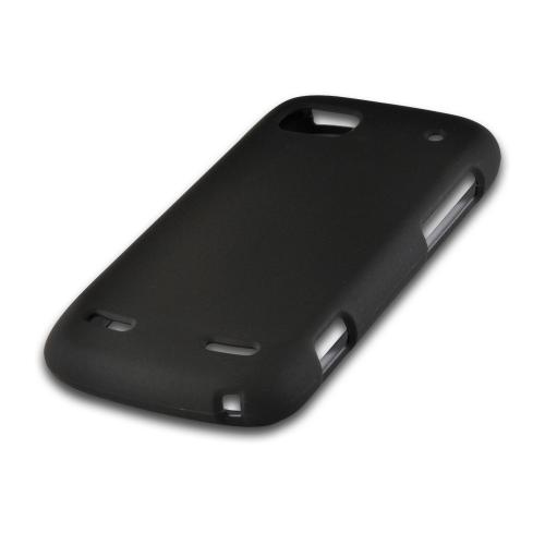 Black Rubberized Hard Case for ZTE Warp Sequent/ Warp 2 N861